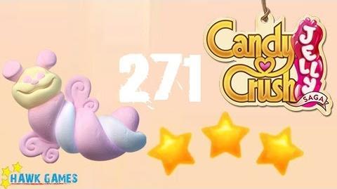 Candy Crush Jelly - 3 Stars Walkthrough Level 271 (Puffler mode)