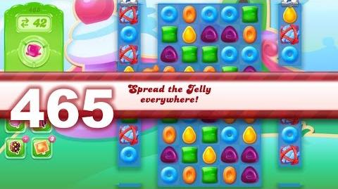 Candy Crush Jelly Saga Level 465 (3 star, No boosters)