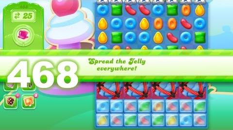 Candy Crush Jelly Saga Level 468 (No boosters)