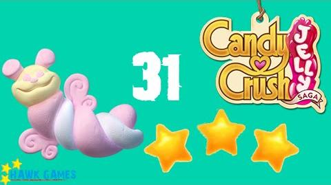 Candy Crush Jelly - 3 Stars Walkthrough Level 31 (Puffler mode)