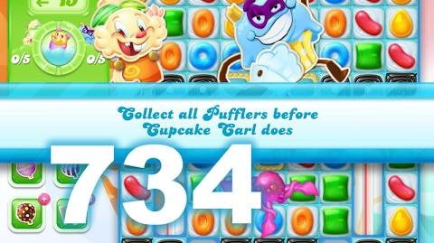 Candy Crush Jelly Saga Level 734 (No boosters)