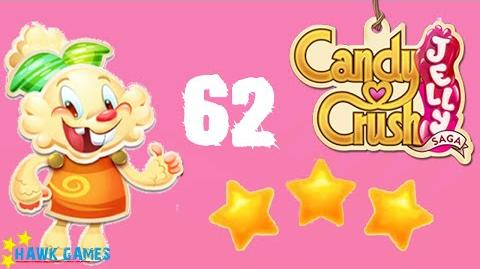 Candy Crush Jelly - 3 Stars Walkthrough Level 62 (Jelly mode)