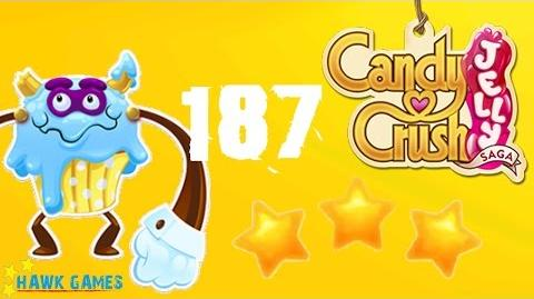 Candy Crush Jelly - 3 Stars Walkthrough Level 187 (Puffler Boss mode)