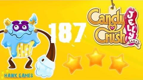 Candy Crush Jelly - 3 Stars Walkthrough Level 187 (Puffler Boss mode)