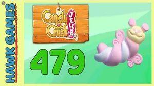Candy Crush Jelly Saga Level 479 (Puffler mode) - 3 Stars Walkthrough, No Boosters