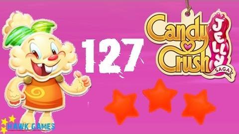 Candy Crush Jelly - 3 Stars Walkthrough Level 127 (Jelly mode)
