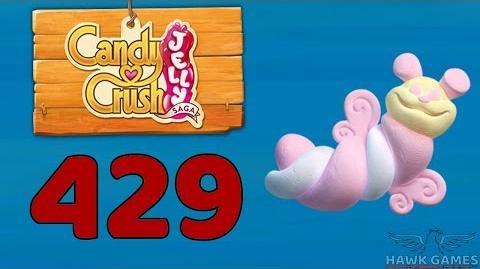 Candy Crush Jelly 🍰 Saga Level 429 Hard (Puffler mode) - 3 Stars Walkthrough, No Boosters
