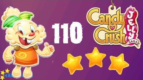 Candy Crush Jelly - 3 Stars Walkthrough Level 110 (Jelly mode)