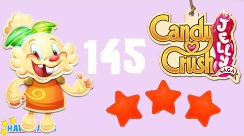 Candy Crush Jelly - 3 Stars Walkthrough Level 145 (Jelly mode)
