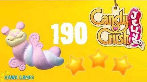 Candy Crush Jelly - 3 Stars Walkthrough Level 190 (Puffler mode)