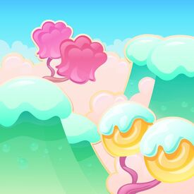 Cotton Candy Clouds background