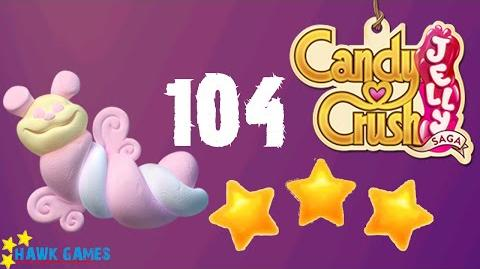 Candy Crush Jelly - 3 Stars Walkthrough Level 104 (Puffler mode)