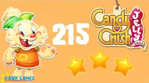 Candy Crush Jelly - 3 Stars Walkthrough Level 215 (Jelly mode)