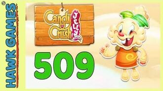 Candy Crush Jelly Saga Level 509 (Jelly mode) - 3 Stars Walkthrough, No Boosters
