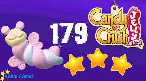 Candy Crush Jelly - 3 Stars Walkthrough Level 179 (Puffler mode)