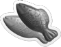 Double delish fish Icon gray