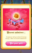 Free Gift Secret admirer Coloring candy Valentine 2018