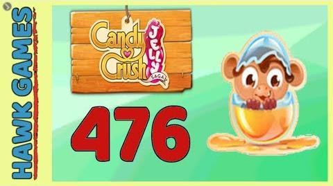 Candy Crush Jelly Saga Level 476 Hard (Monkling mode) - 3 Stars Walkthrough, No Boosters
