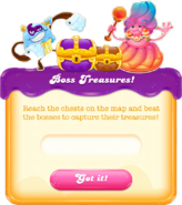 Boss treasures message