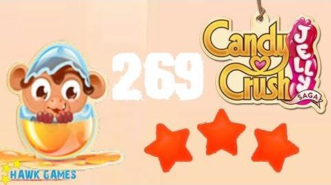 Candy Crush Jelly - 3 Stars Walkthrough Level 269 (Monkling mode)