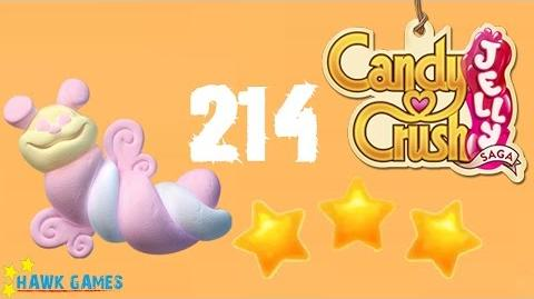 Candy Crush Jelly - 3 Stars Walkthrough Level 214 (Puffler mode)