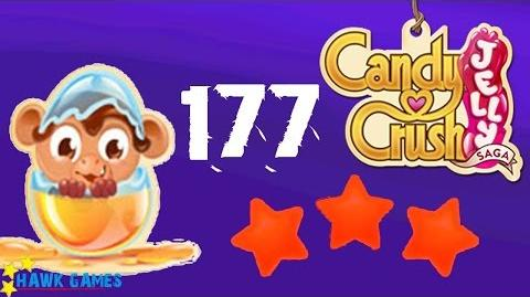 Candy Crush Jelly - 3 Stars Walkthrough Level 177 (Monkling mode)