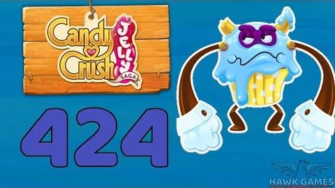 Candy Crush Jelly 🍰 Saga Level 424 Super Hard (Puffler Boss mode) - 3 Stars Walkthrough, No Boosters