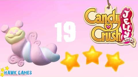 Candy Crush Jelly - 3 Stars Walkthrough Level 19 (Puffler mode)
