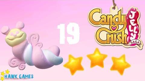 Candy Crush Jelly - 3 Stars Walkthrough Level 19 (Puffler mode)