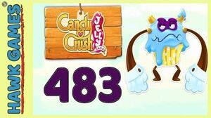 Candy Crush Jelly Saga Level 483 (Puffler Boss mode) - 3 Stars Walkthrough, No Boosters