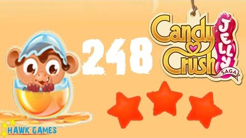 Candy Crush Jelly - 3 Stars Walkthrough Level 248 (Monkling mode)