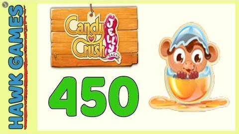 Candy Crush Jelly Saga Level 450 (Monkling mode) - 3 Stars Walkthrough, No Boosters