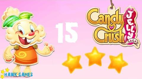 Candy Crush Jelly - 3 Stars Walkthrough Level 15 (Jelly mode)
