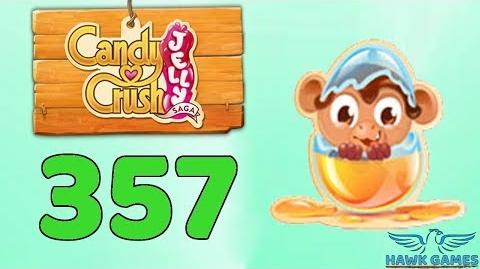 Candy Crush Jelly Saga Level 357 (Monkling mode) - 3 Stars Walkthrough, No Boosters