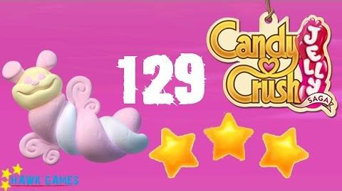 Candy Crush Jelly - 3 Stars Walkthrough Level 129 (Puffler mode)