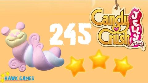 Candy Crush Jelly - 3 Stars Walkthrough Level 245 (Puffler mode)