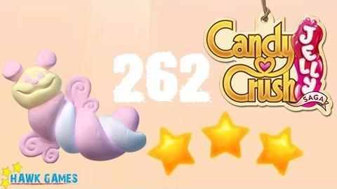 Candy Crush Jelly - 3 Stars Walkthrough Level 262 (Puffler mode)