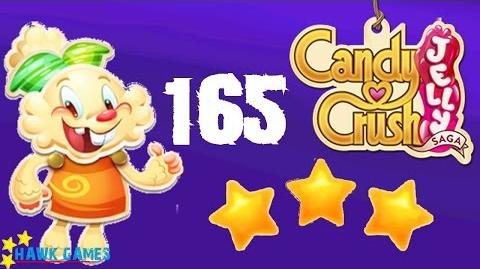 Candy Crush Jelly - 3 Stars Walkthrough Level 165 (Jelly mode)