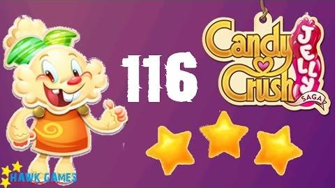 Candy Crush Jelly - 3 Stars Walkthrough Level 116 (Jelly mode)