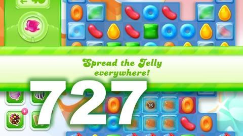 Candy Crush Jelly Saga Level 727 (3 star, No boosters)