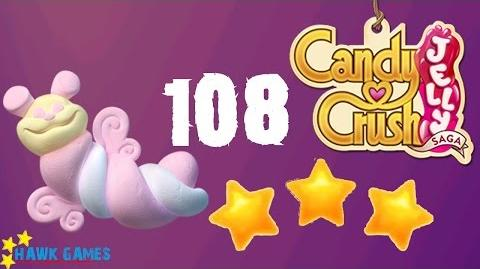 Candy Crush Jelly - 3 Stars Walkthrough Level 108 (Puffler mode)