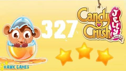 Candy Crush Jelly - 3 Stars Walkthrough Level 327 (Monkling mode)