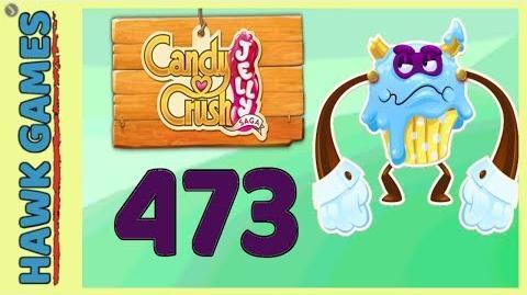 Candy Crush Jelly Saga Level 473 (Puffler Boss mode) - 3 Stars Walkthrough, No Boosters