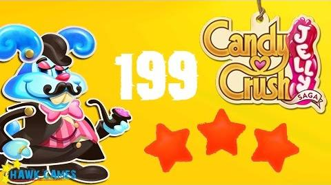 Candy Crush Jelly - 3 Stars Walkthrough Level 199 (Monkling Boss mode)