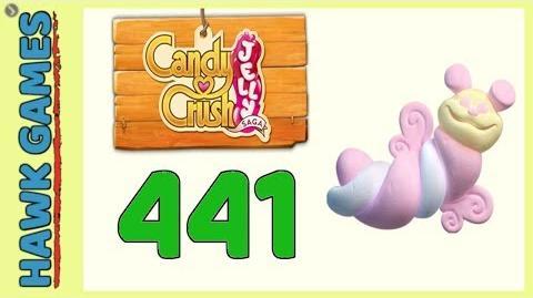 Candy Crush Jelly Saga Level 441 (Puffler mode) - 3 Stars Walkthrough, No Boosters