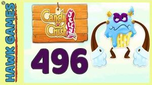 Candy Crush Jelly Saga Level 496 (Puffler Boss mode) - 3 Stars Walkthrough, No Boosters