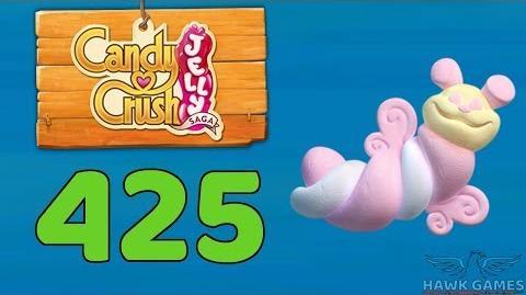 Candy Crush Jelly 🍰 Saga Level 425 (Puffler mode) - 3 Stars Walkthrough, No Boosters