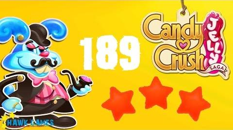 Candy Crush Jelly - 3 Stars Walkthrough Level 189 (Monkling Boss mode)