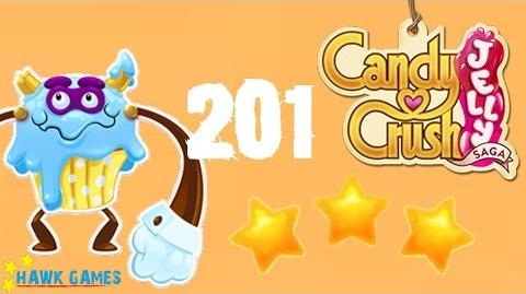 Candy Crush Jelly - 3 Stars Walkthrough Level 201 (Puffler Boss mode)