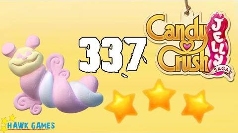 Candy Crush Jelly Saga Level 337 (Puffler mode) - 3 Stars Walkthrough, No Boosters
